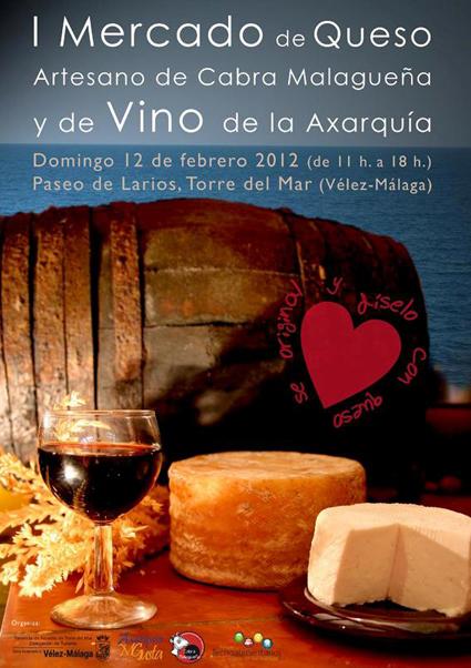Mercado del queso artesano de cabra malague a y vino de la - Queso de cabra y colesterol ...